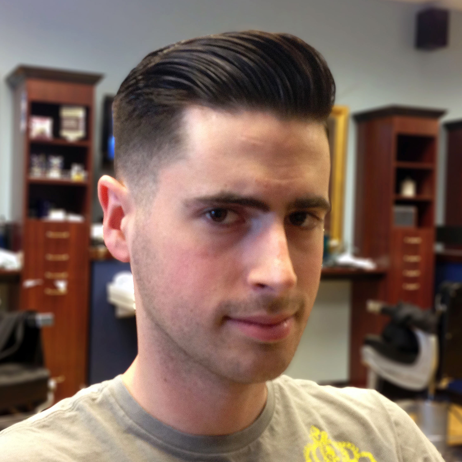 Short Pompadour Hairstyle Men